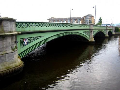 The Albert Bridge, Belfast, over the Lagan