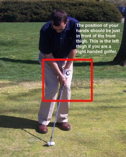 Chip Shot Hand Position