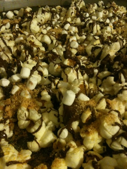 S'mores popcorn combines some of summer's favorite tastes.