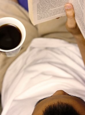 Nothing goes together better than a cup of coffee and a good book.