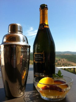 Fruity Alcoholic Drink Recipe: Fresh Peach Bellini Cocktail