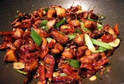 Chicken and Walnuts in Hot Bean Sauce