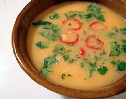 Tasty raw vegan coconut soup