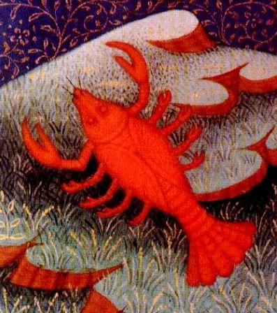 The Zodiac Sun sign of Cancer owns the symbol of the Crab.  He is born between June 22 - July 22 each year.