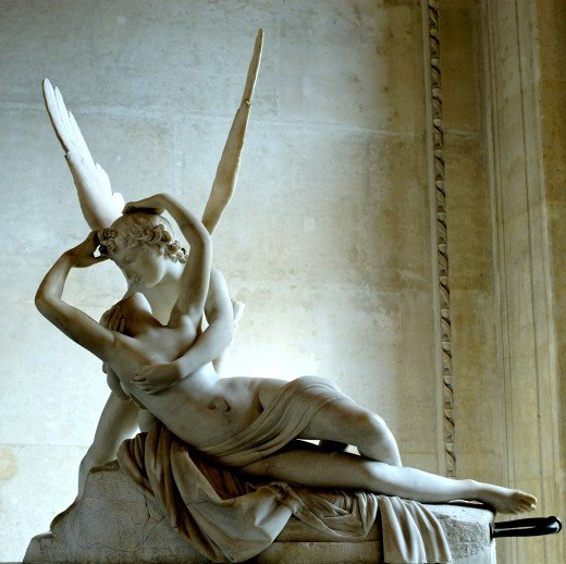 This is by far the most famous neo-classical sculpture ever commissioned. It was sculpted by Antonio Canova. It was first commissioned in 1787.