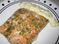 Lemon Dill Salmon with Tarter Sauce