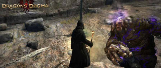 Dragon's Dogma Get to Bluemoon Tower - defeating the golem from the top of the large rock outcropping is only one of the challenges in getting to the Bluemoon Tower