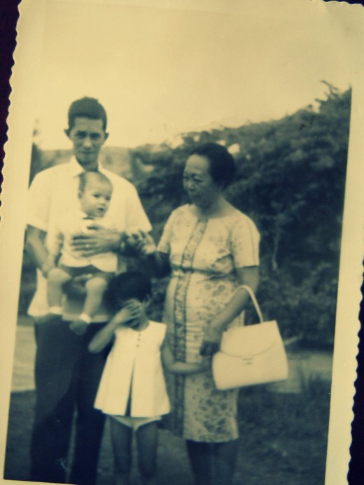 I can't find pictures of just the two of us together, but I know I am your girl. In Photo: Papa with my brother Mark, me, and lola (grandma)