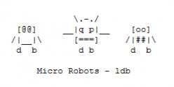 Robots and Aliens in ASCII Text Art