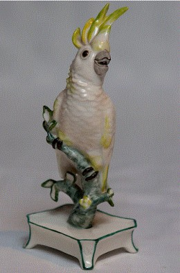 nymphenburg porcelain cockatoo