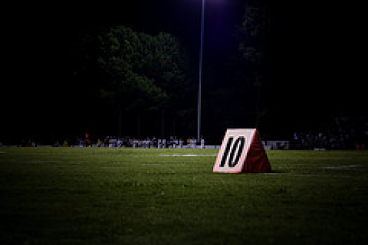 Example of a yard marker. They do not need to be this elaborate.