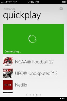 """The Connect to Xbox icon starts spinning and says """"Connecting."""""""