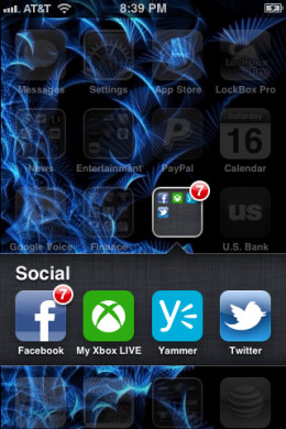 Install the My Xbox LIVE app on your iPhone.