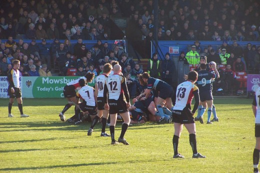 Bedford Blues in action against Cornish Pirates on February 6, 2008. (The Blues won.)