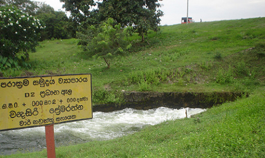 D2 Main Canal of the Prakrama Samudra Irrigation Project.