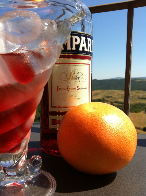 Campari Grapefruit Ice