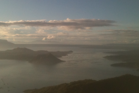 Early Morning Mist Hovers over the Volcano within a Volcano, Taal