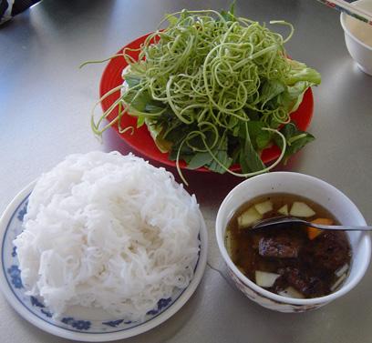 Bún rối - tangled rice vermicelli