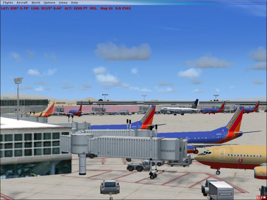 The Southwest Airlines Hub at Las Vegas.
