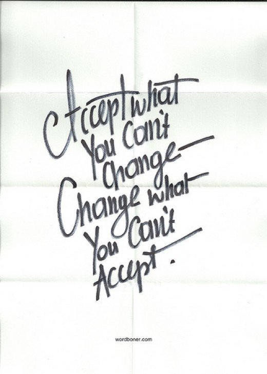 Accept and Change from WRDBNR Source: flickr.com