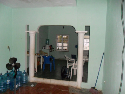 Inside of Andy's house, Agua Dulce, Veracruz, Mexico