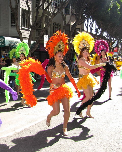 Dancers at the San Francisco Carnaval