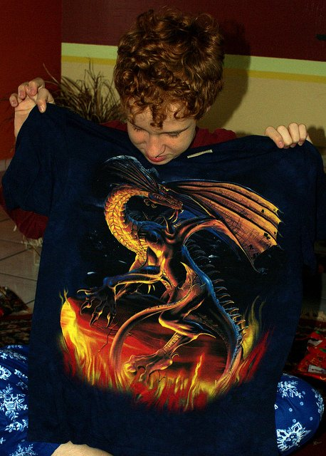 I don't want to be grimy towards dragons or anything, but use this shirt as an example of what should be avoided.