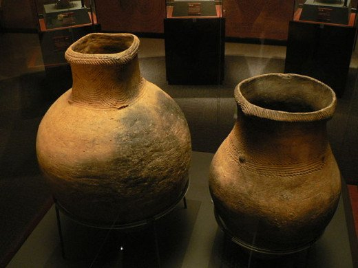 Two jars from the Jōmon period.