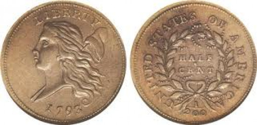 This is the style of the Liberty Cap Right half cent.