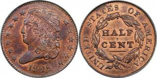 This is the style of the Classic Head half cent.