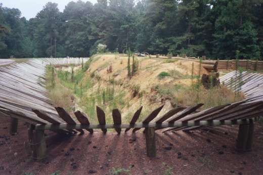 Recreation of a Union Trench at Petersburg National Battlefield Park