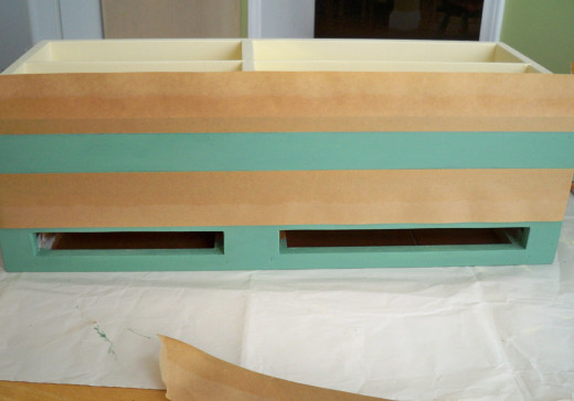 Taped Border Ready for Paint.