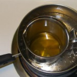 Melting wax in a disposable container saves your pots and pans and makes for easy clean up.