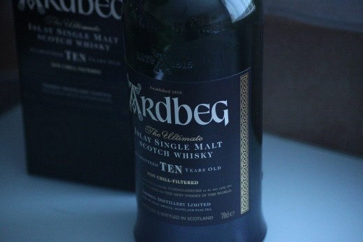Ardbeg- a great Islay Whisky for making Scottish Cocktails.