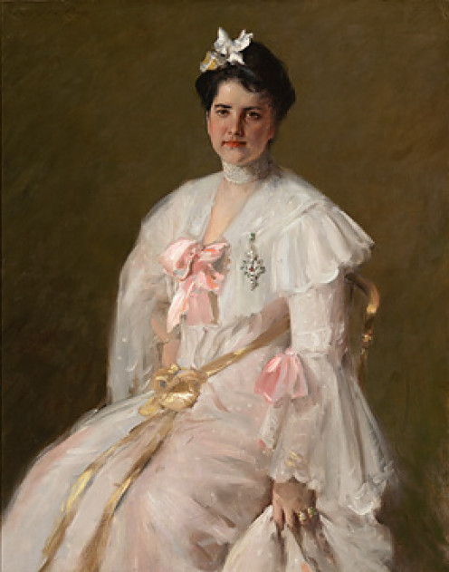 Portrait painted by Chase of his wife, Alice Gerson.