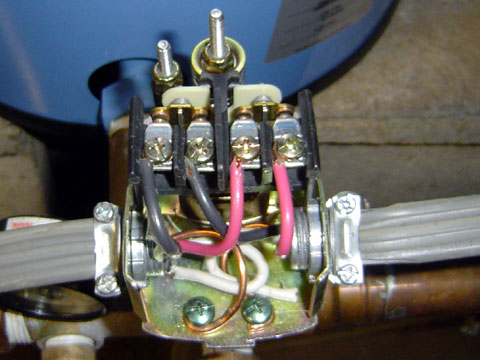 pump switch with wiring.