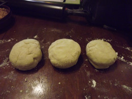 Chilled dough ready for rolling.