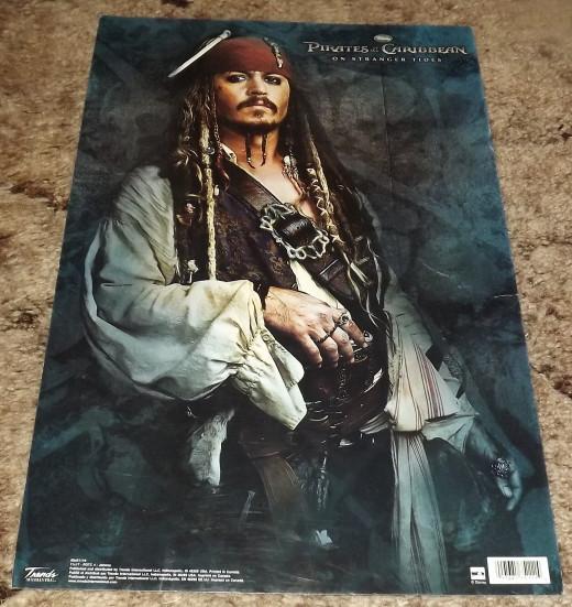 Johnny Depp Pirates of the Caribbean On Stranger Tides Movie Poster