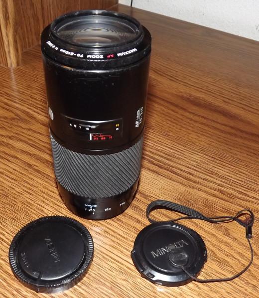 Konica Minolta Famous Beer Can Zoom Lens