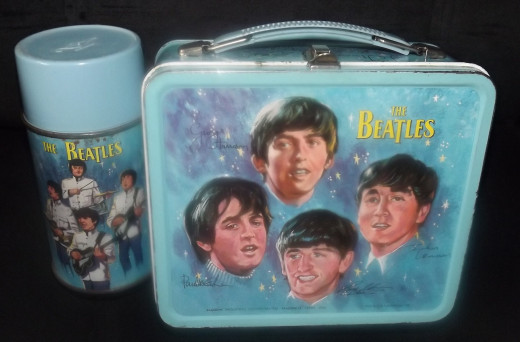 Vintage Collectible 1965 Beatles Lunchbox