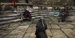 Dragon's Dogma Defeat Salomet - Salomet is on the right and the death knight is on the left