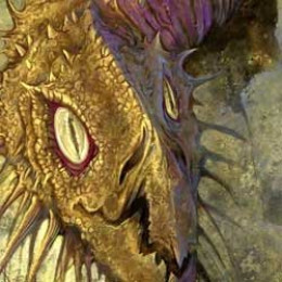 My fantasy dragon art and how I painted it.