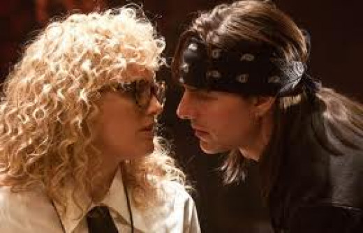 Malin Akerman is a Rolling Stone reporter sent to interview the elusive Stacee Jaxx (Tom Cruise) as the aging rock god prepares to bid farewell to his band.