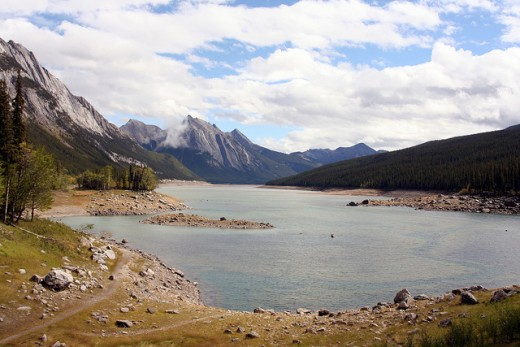 Jasper National Park is Canada's largest National Park.  Medicine Lake is just one of the many beautiful lakes in the park