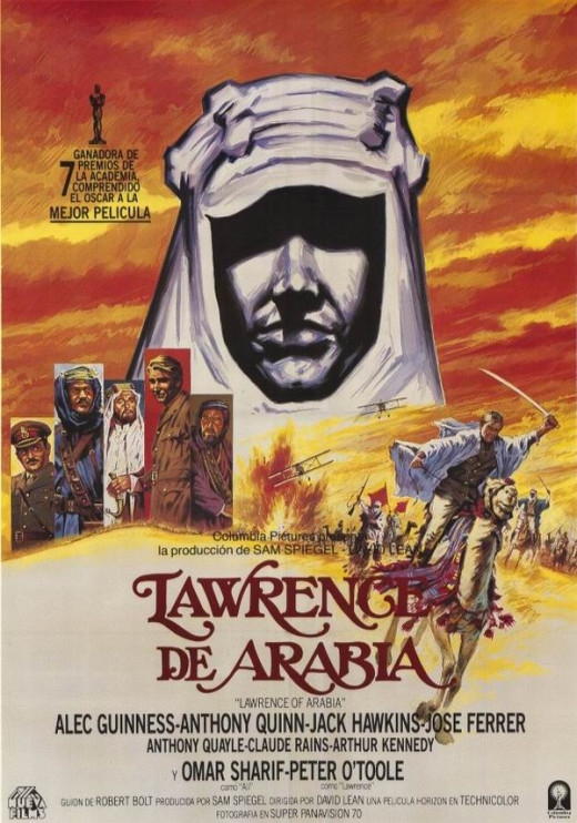 Lawrence of Arabia (1962) Spanish poster