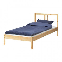 Fjellse pine bedframe taken apart and stowed in the cargo trailer. ($39.99)