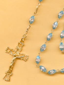 Rosaries are made with everything from precious jewels  to wood to small stones.
