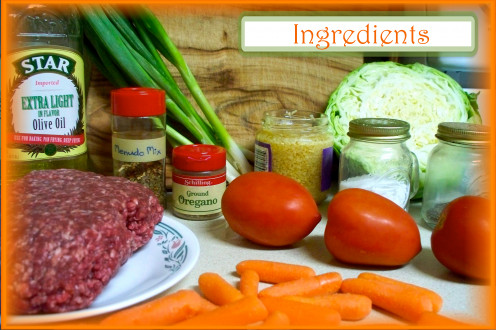 Ingredients for Albondigas