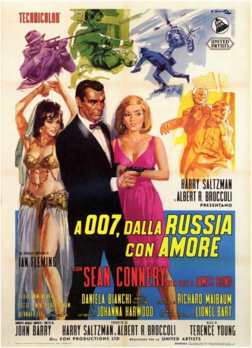 From Russia With Love (1963) Italian poster art by Renato Fratini