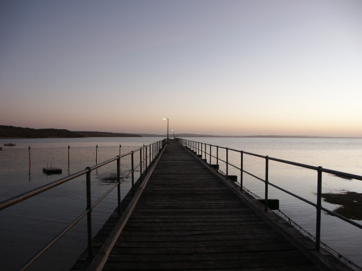 Sitting at the end of a jetty is peaceful